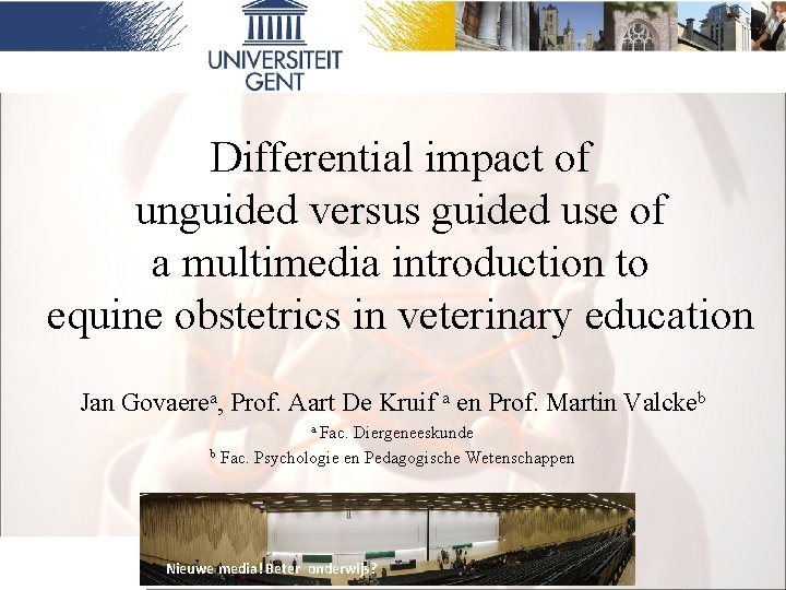 Differential impact of unguided versus guided use of a multimedia introduction to equine obstetrics