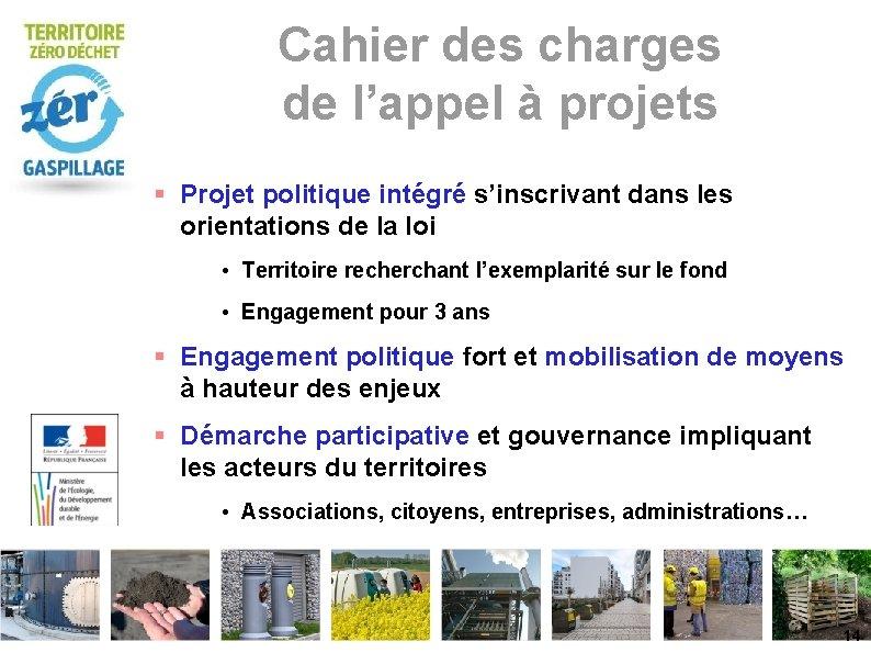 Cahier des charges de l'appel à projets Projet politique intégré s'inscrivant dans les orientations