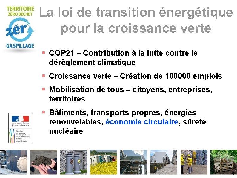 La loi de transition énergétique pour la croissance verte COP 21 – Contribution à