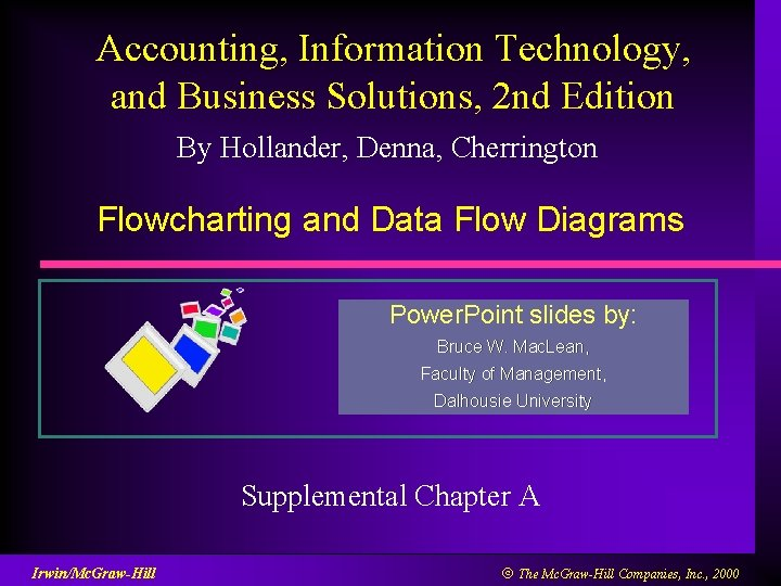 Accounting, Information Technology, and Business Solutions, 2 nd Edition By Hollander, Denna, Cherrington Flowcharting