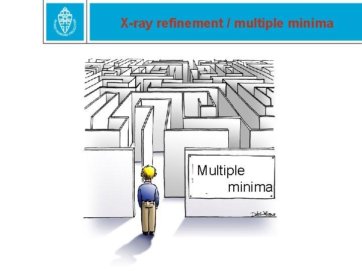 X-ray refinement / multiple minima Multiple minima