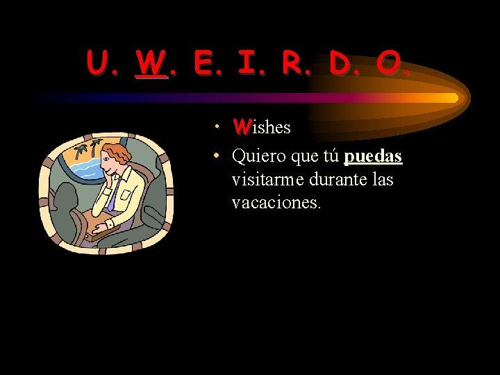 U. W. E. I. R. D. O. • Wishes • Quiero que tú puedas
