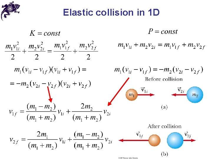 Elastic collision in 1 D