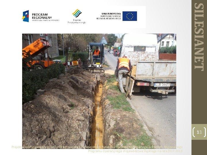 SILESIANET 13 Projekt współfinasowany przez Unie Europejską z Europejskiego Funduszu Rozwoju Regionalnego w Ramach
