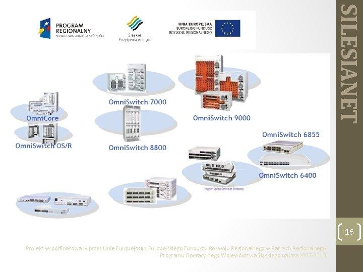 SILESIANET 16 Projekt współfinasowany przez Unie Europejską z Europejskiego Funduszu Rozwoju Regionalnego w Ramach
