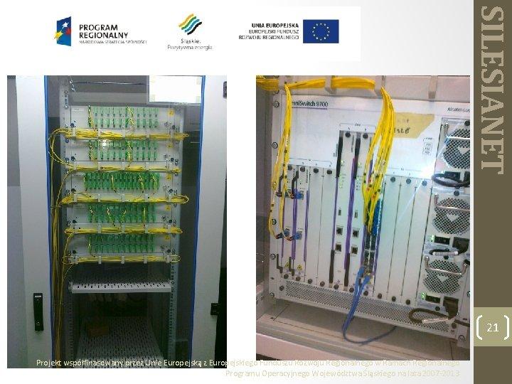 SILESIANET 21 Projekt współfinasowany przez Unie Europejską z Europejskiego Funduszu Rozwoju Regionalnego w Ramach