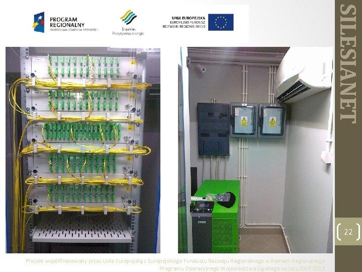 SILESIANET 22 Projekt współfinasowany przez Unie Europejską z Europejskiego Funduszu Rozwoju Regionalnego w Ramach