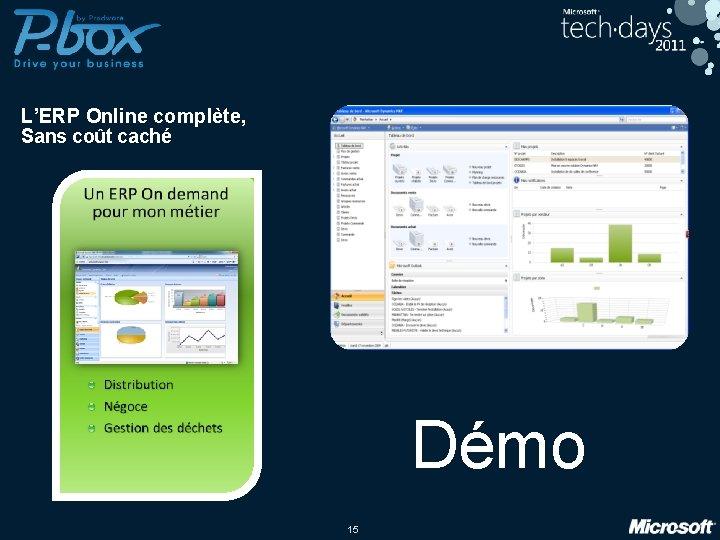 L'ERP Online complète, Sans coût caché Démo 15