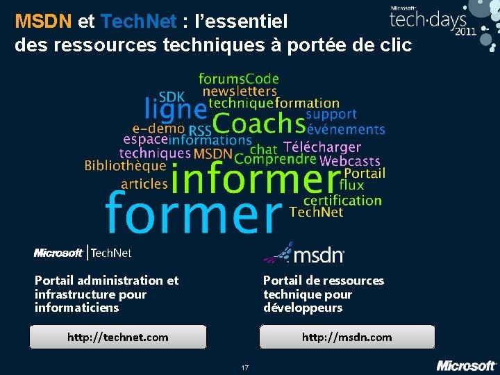 MSDN et Tech. Net : l'essentiel des ressources techniques à portée de clic Portail