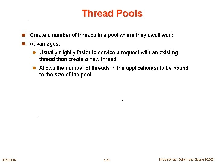Thread Pools n Create a number of threads in a pool where they await