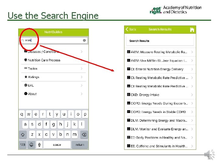 Use the Search Engine 12