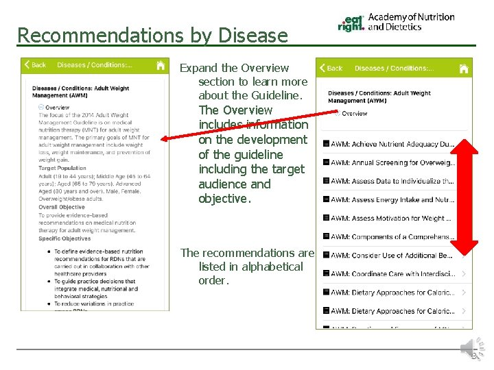 Recommendations by Disease Expand the Overview section to learn more about the Guideline. The