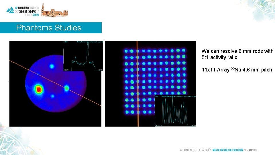 Phantoms Studies We can resolve 6 mm rods with 5: 1 activity ratio 11