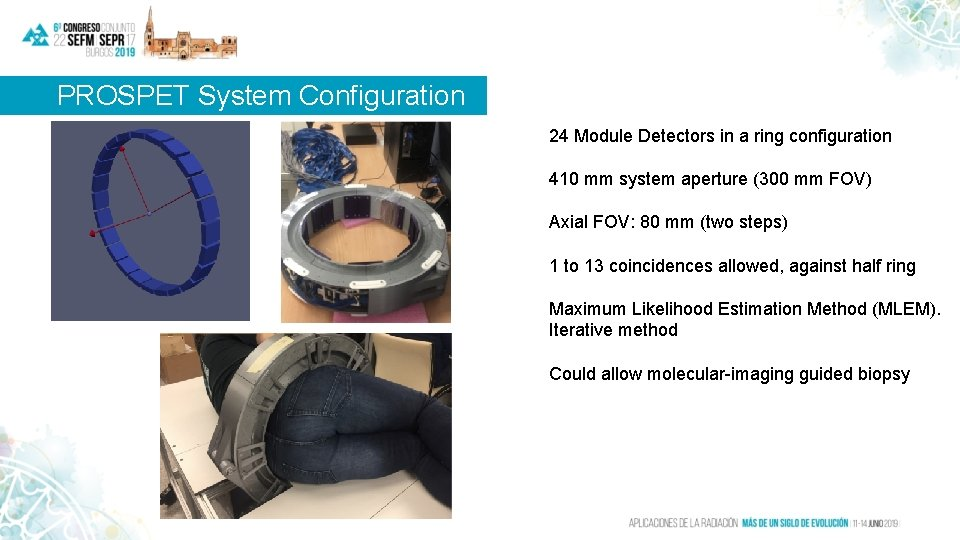 PROSPET System Configuration 24 Module Detectors in a ring configuration 410 mm system aperture