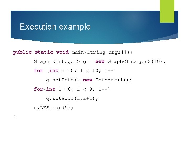 Execution example