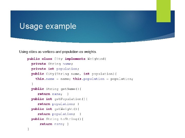 Usage example