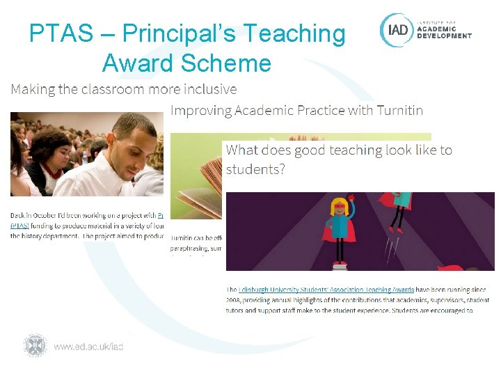 PTAS – Principal's Teaching Award Scheme