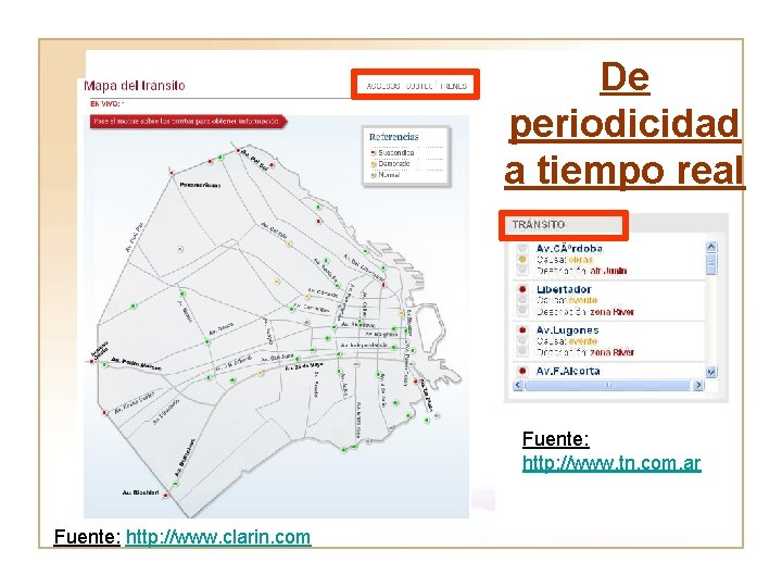 De periodicidad a tiempo real Fuente: http: //www. tn. com. ar Fuente: http: //www.