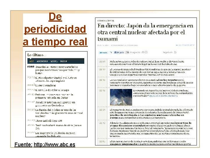 De periodicidad a tiempo real Fuente: http: //www. abc. es