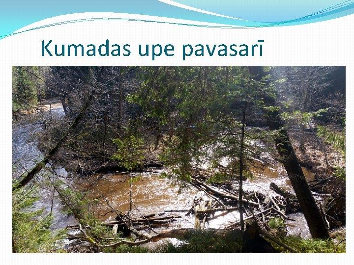 Kumadas upe pavasarī