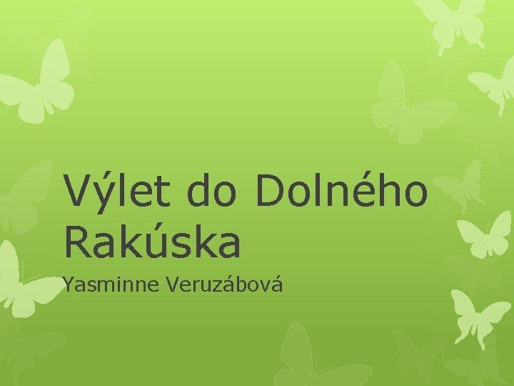 Výlet do Dolného Rakúska Yasminne Veruzábová