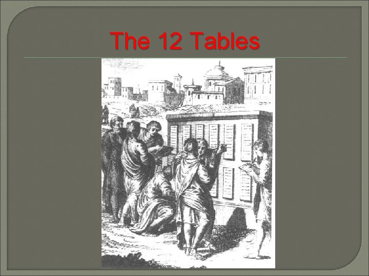 The 12 Tables