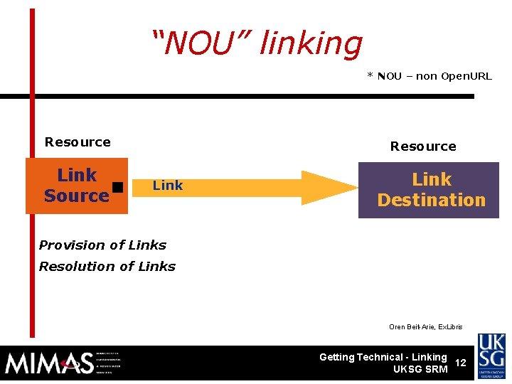 """NOU"" linking * NOU – non Open. URL Resource . Link Source Resource Link"