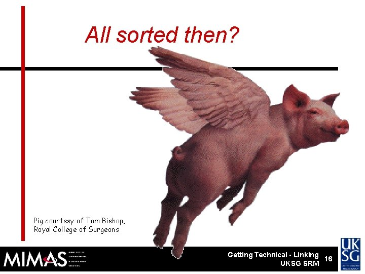 Getting technical All sorted then? Pig courtesy of Tom Bishop, Royal College of Surgeons