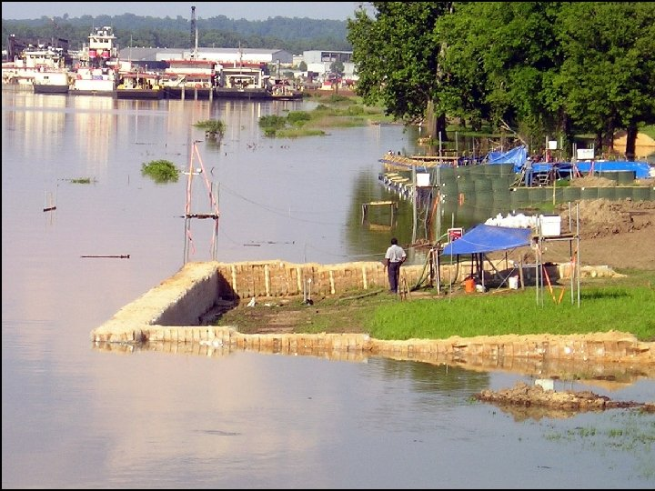 2005 USACE Testing Shows RDFW To Withstand 3 Seasons of Overtopping. Alternative Methods Show