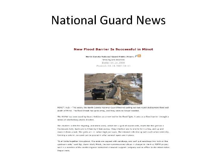 National Guard News