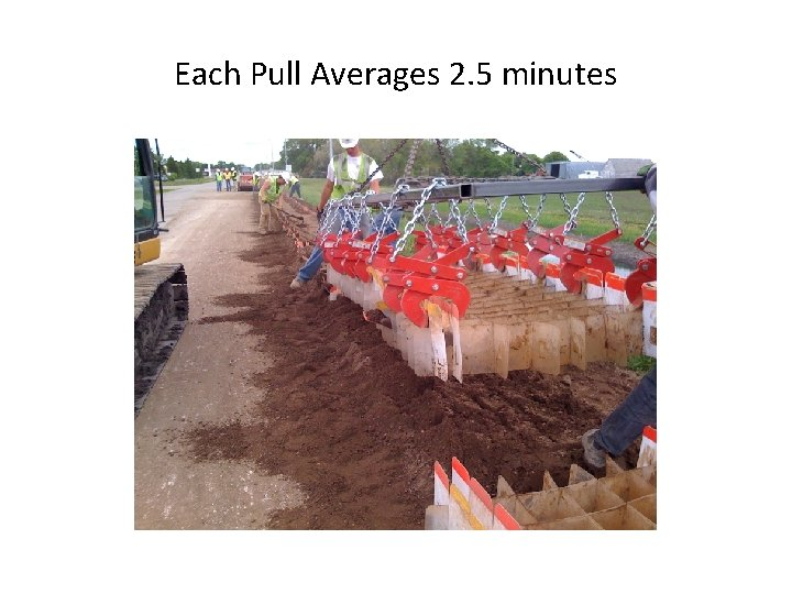 Each Pull Averages 2. 5 minutes