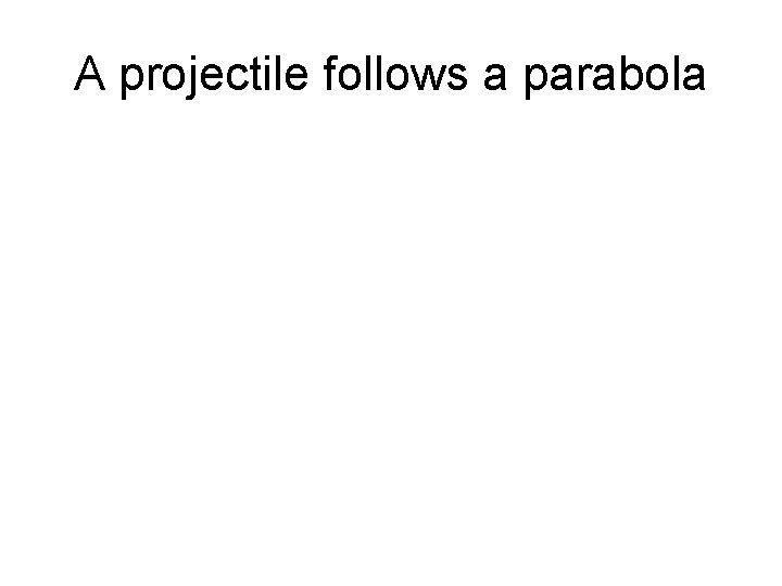 A projectile follows a parabola