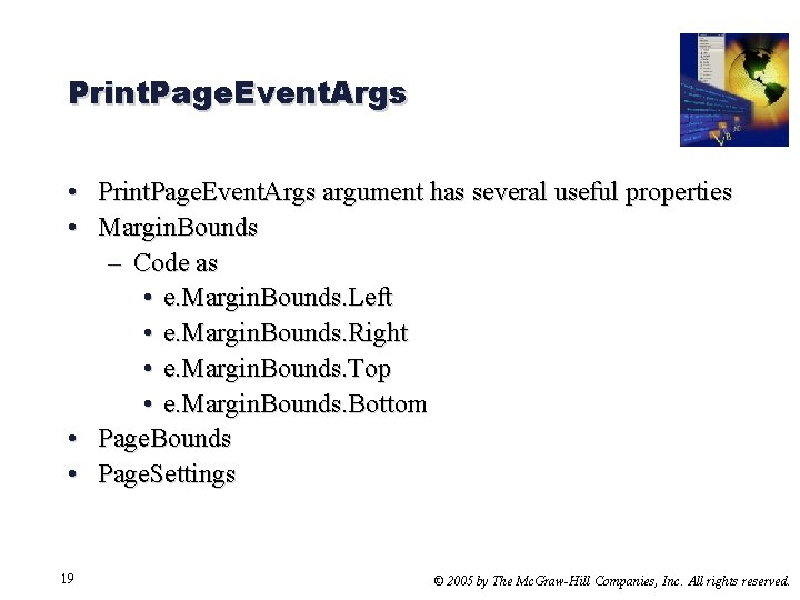 Print. Page. Event. Args • Print. Page. Event. Args argument has several useful properties