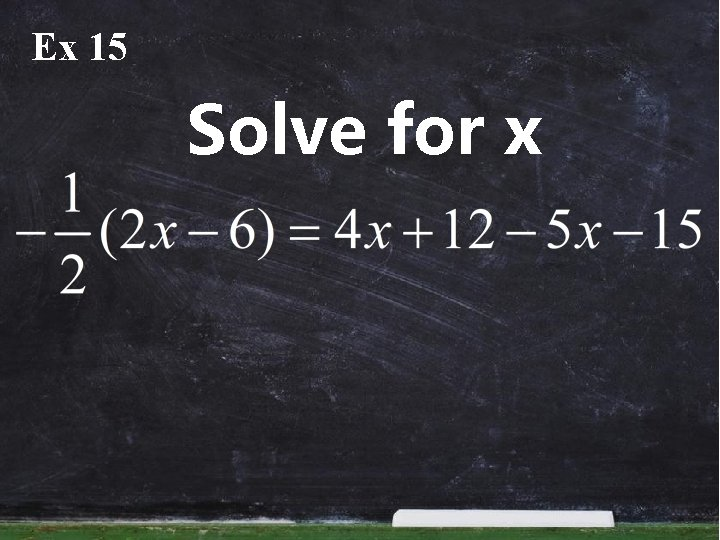 Ex 15 Solve for x