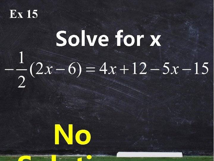 Ex 15 Solve for x No