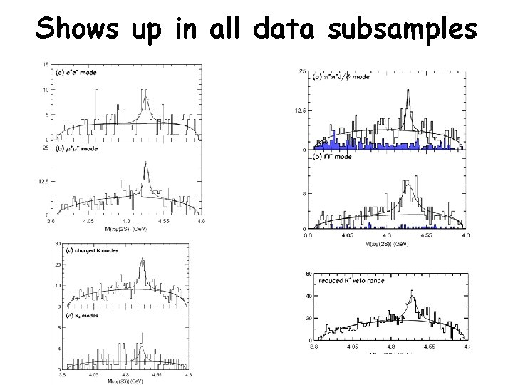Shows up in all data subsamples