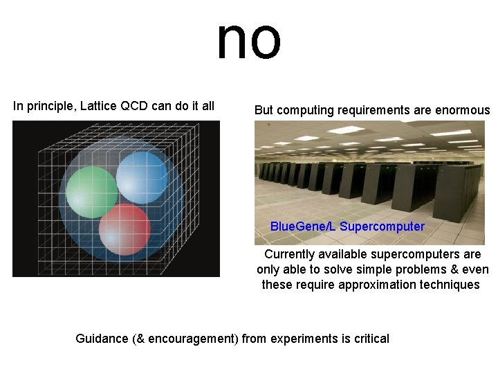 no In principle, Lattice QCD can do it all But computing requirements are enormous