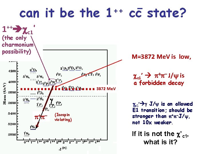can it be the ++ 1 cc state? 1++ cc 1' (the only charmonium