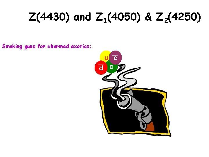 Z(4430) and Z 1(4050) & Z 2(4250) Smoking guns for charmed exotics: u c