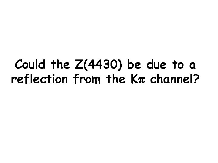Could the Z(4430) be due to a reflection from the Kp channel?