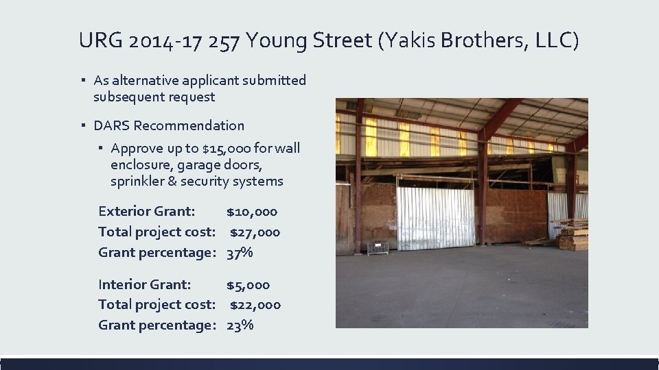 URG 2014 -17 257 Young Street (Yakis Brothers, LLC) ▪ As alternative applicant submitted