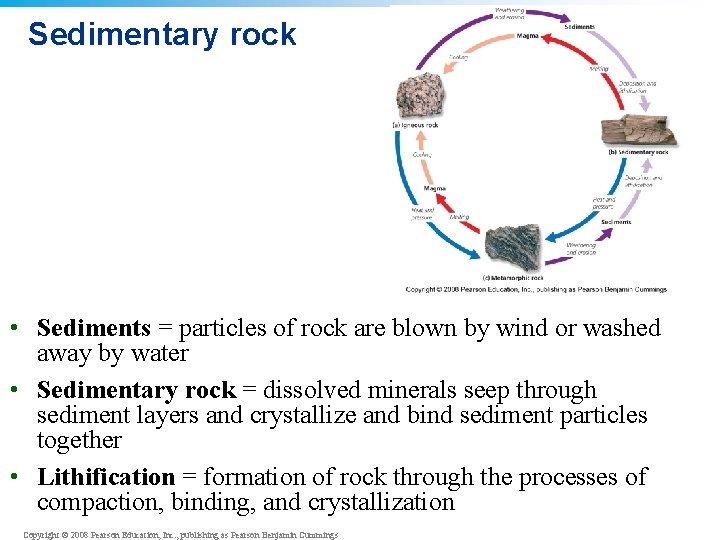 Sedimentary rock • Sediments = particles of rock are blown by wind or washed