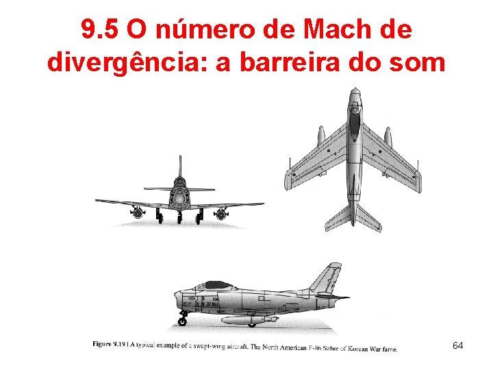 9. 5 O número de Mach de divergência: a barreira do som 64