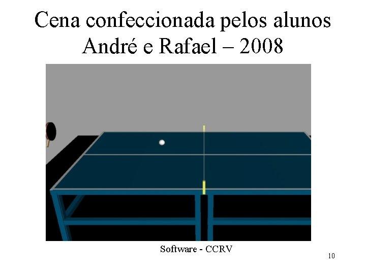 Cena confeccionada pelos alunos André e Rafael – 2008 Software - CCRV 10