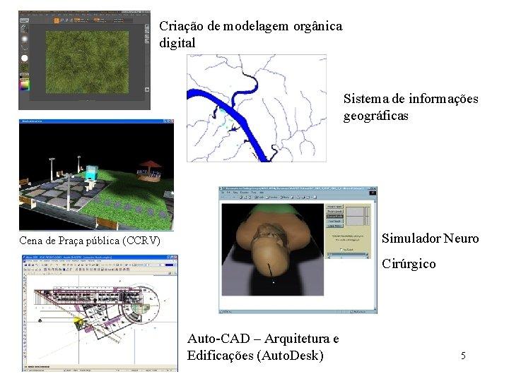 Criação de modelagem orgânica digital Sistema de informações geográficas Simulador Neuro Cena de Praça