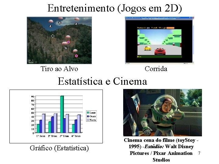 Entretenimento (Jogos em 2 D) Tiro ao Alvo Corrida Estatística e Cinema Gráfico (Estatística)