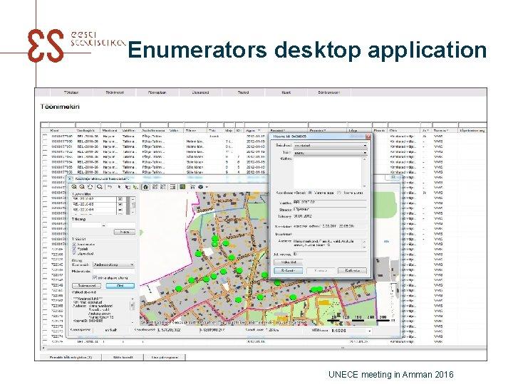 Enumerators desktop application UNECE meeting in Amman 2016