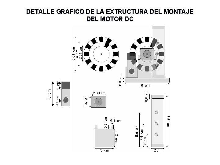 1 cm. 0. 3 cm. 5 cm. DETALLE GRAFICO DE LA EXTRUCTURA DEL MONTAJE