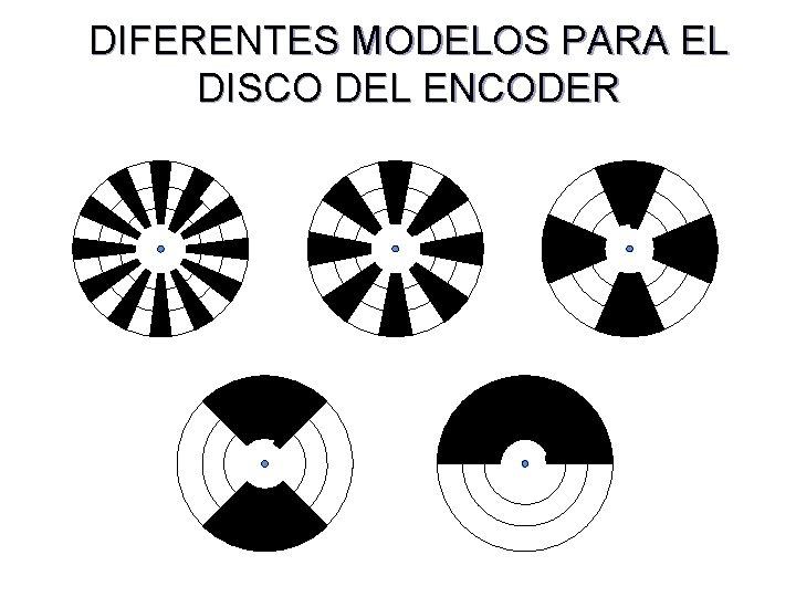 DIFERENTES MODELOS PARA EL DISCO DEL ENCODER