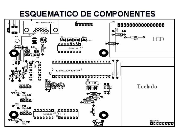 ESQUEMATICO DE COMPONENTES LCD Teclado
